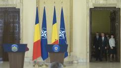 Declarație de presă susținută de Președintele României, Klaus Iohannis, și Secretarul General al NATO, Jens Stoltenberg