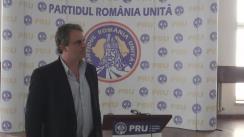 Conferință de presă susținută de președintele Partidului România Unită, Bogdan Diaconu, și liderul partidului naționalist Forza Nuova din Italia, Roberto Fiore