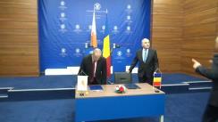 Briefing susținut de ministrul Afacerilor Externe al României, Lazăr Comănescu, și ministrul Afacerilor Externe al Republicii Cipru, Ioannis Kasoulides