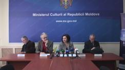 Conferință de presă organizată de Ministerul Culturii cu prilejul Zilei Internaționale a Muzeelor și Nopții Europene a Muzeelor