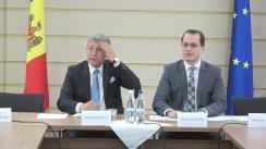 Conferință de presă susținută de copreședinții Comitetului Parlamentar de Asociere, Mihai Ghimpu și Andi Cristea