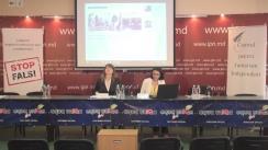 """Conferința de presă organizată de CJI cu tema """"Elemente de propagandă, manipulare informațională și încălcare a normelor deontologiei jurnalistice în spațiul mediatic autohton"""" (1 februarie 2016 - 30 aprilie 2016)"""