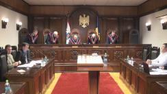 Ședința Curții Constituționale: Acces limitat la corespondența Agentului Guvernamental cu CEDO