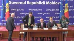 Declarații de presă susținute de prim-ministrul Pavel Filip și membrii delegației Comitetului de Asociere Parlamentară UE-RM