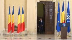 Ceremonia de depunere a jurământului de învestitură de către noul ministru al Sănătății, Vlad Voiculescu