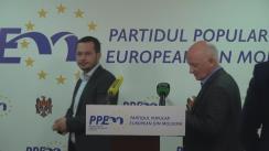 """Conferință de presă organizată de Fracțiunea Blocului Electoral """"PPEM - Iurie Leancă"""" de prezentare a explicațiilor privind votul de ieri din cadrul CMC"""