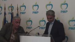 Conferință de presă susținută de candidatul PMP la Primăria municipiului București, Robert Turcescu