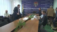 Masa rotundă organizată de Ministerul Agriculturii și Industriei Alimentare pe subiectul înghețurilor din raioanele de nord și efectele acestora asupra culturilor agricole