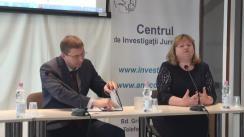 """Clubul Jurnaliștilor de Investigație cu tema """"Reforma Procuraturii Anticorupție: va deveni lupta împotriva corupției mai eficientă?"""""""
