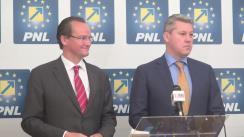 Conferință de presă susținută de candidatul PNL la primăria Capitalei, Cătălin Predoiu, și președintele Comisiei pentru afaceri europene din Bundestag, Gunther Krichbaum