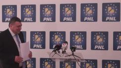 Conferință de presă susținută de prim-vicepreședintele PNL, Teodor Atanasiu, și deputatul PNL, Gheorghe Ialomițianu