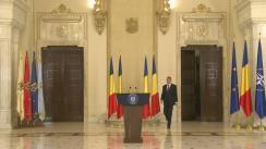 Declarație de presă susținută de președintele României, Klaus Iohannis, după Ședința Consiliului Suprem de Apărare a Țării