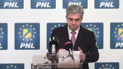 Conferință de presă susținută de Liderul deputaților PNL, Eugen Nicolăescu, și candidatul PNL la Primăria Sectorului 6, Răzvan Mironescu