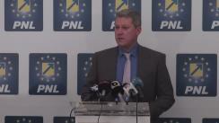 Conferință de presă susținută de candidatul PNL pentru Primăria Capitalei, Cătălin Predoiu