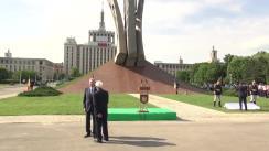 Ceremonia de inaugurare a Monumentului Aripi, ridicat în memoria luptătorilor din rezistența anticomunistă 1945 - 1989
