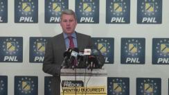Conferința de presă susținută de Cătălin Predoiu, candidatul PNL pentru Primăria Capitalei