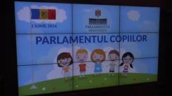 Ședința Parlamentului copiilor de 1 iunie 2016
