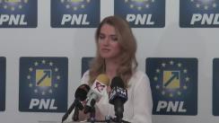 Conferință de presă susținută de copreședintele Partidului Național Liberal, Alina Gorghiu