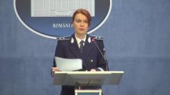 Declarații de presă susținute de purtătorul de cuvânt al MAI, Monica Dajbog, privind elicopterul SMURD prăbușit în Republica Moldova