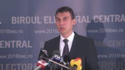 Alegeri Locale 2016: Anunțarea de către Biroul Electoral Central a prezenței la vot până la ora 10.00 la alegerile locale