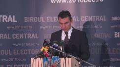 Alegeri Locale 2016: Anunțarea de către Biroul Electoral Central a prezenței la vot până la ora 13.00 la alegerile locale