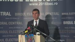 Alegeri Locale 2016: Anunțarea de către Biroul Electoral Central a prezenței la vot până la ora 19.00 la alegerile locale