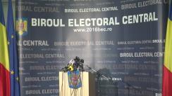 Alegeri Locale 2016: Anunțarea de către Biroul Electoral Central a prezenței la vot până la ora 21.00 la alegerile locale