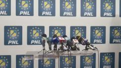 Conferință de presă susținută de co-președinții PNL, Alina Gorghiu și Vasile Blaga