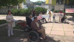 Protestul persoanelor cu dizabilități împotriva inaccesibilității Judecătoriei sectorului Centru Chișinău