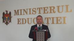 Briefing organizat de Ministerul Educației cu ocazia desfășurării celei de-a treia probe de examen din sesiunea de bacalaureat 2016
