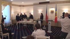 Briefing susținut de prim-ministrul Republicii Cehe, Bohuslav Sobotka, și prim-ministrul Republicii Moldova, Pavel Filip