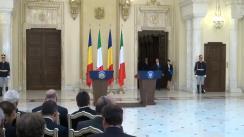 Declarație de presă comună a Președintelui României, Klaus Iohannis, și a Președintelui Republicii Italiene, Sergio Mattarella