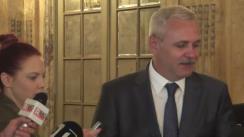 Declarație de presă susținută de președintele PSD, Liviu Dragnea