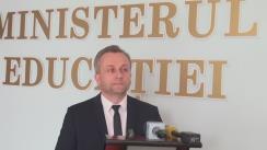 Briefing organizat de Ministerul Educației cu ocazia desfășurării celei de-a cincea probe de examen din sesiunea de bacalaureat 2016