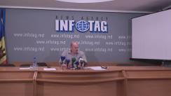 """Conferința de presă cu tema """"Schema de fraudare a banilor publici sau furtul banilor publici prin veniturile salariale dubioase obținute de către familia președintelui AȘM, Gheorghe Duca"""""""