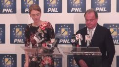 Conferință de presă susținută de co-președinții PNL, Alina Gorghiu și Vasile Blaga, după afișarea rezultatelor referendumului Brexit