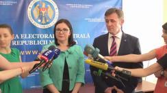 Declarațiile Alinei Russu și Iurie Ciocan după ședința Comisiei Electorale Centrale de alegere a noii conduceri