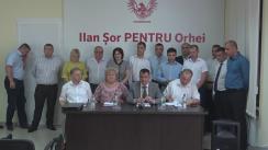 """Conferință de presă susținută de fracțiunea """"Pentru Orhei"""" din cadrul Consiliului Orășănesc Orhei cu privire la reținerea Primarului de Orhei, Ilan Șor"""