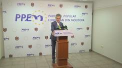 Conferință de presă susținută de președintele Partidului Popular European din Moldova, Iurie Leancă, cu privire la atacurile orchestrate în adresa lui