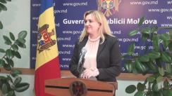 Declarațiile Ruxandei Glavan după ședința Guvernului Republicii Moldova din 29 iunie 2016