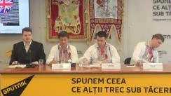 """Conferința de presă cu tema """"Istoria neamului - simbol al Moldovei"""""""
