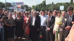 Miting de comemorare organizat de Partidul Liberal a victimilor deportărilor efectuate de regimul comunist
