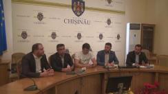 """Conferința de presă cu tema """"Prezentarea agendei comune de organizare a referendumului de demitere a Primarului General al mun. Chișinău"""""""