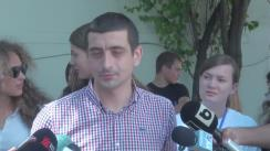 Declarații de presă susținute de George Simion, liderul Platformei Unioniste Acțiunea 2012, după întâlnirea cu Traian Băsescu