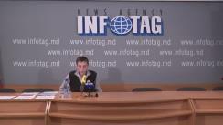 """Conferință de presă susținută de președintele organizației Ucrainene """"Să ajutăm copii"""", Nicolai Cojușco, cu tema """"Corupția a învins maidanul demnității în Ucraina. La alegerile repetate în Rada supremă revine regimul lui Ianukovici"""""""