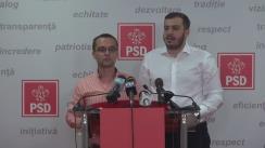 Conferință de presă susținută de președintele TSD, Gabriel Petrea