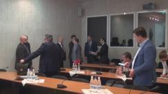 Ședința platformei parlamentare de consultare și control parlamentar pentru realizarea politicii de reintegrare a Republicii Moldova (imagini protocolare)