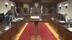 Ședința Curții Constituționale privind excepția de neconstituționalitate a prevederilor art. 27 din Legea cu privire la Agentul Guvernamental (acțiunea în regres)