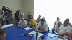 Discuțiile primarului general, Dorin Chirtoacă, cu protestatarii