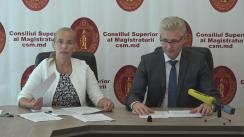 Briefing susținut de președintele CSM, Victor Micu, cu ocazia prezentării ghidului de bune practici dintre sistemul judecătoresc din Republica Moldova și mass-media